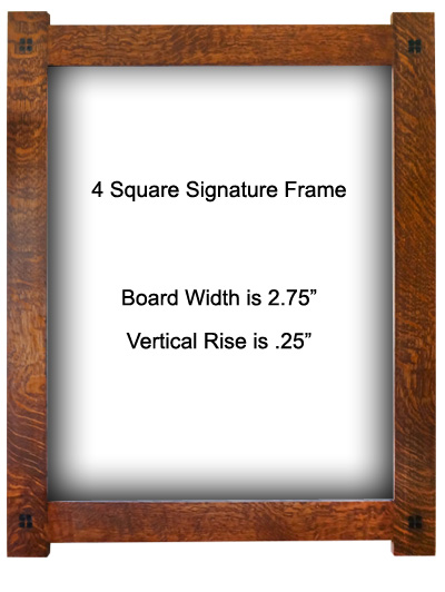 4-Square Quartersawn Oak Frame - Option 6