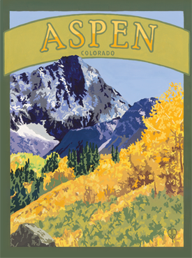 Aspen Artwork, Aspen Poster, Aspen Art, The Bungalow Craft, Bungalow Craft, Julie Leidel, Colorado Art, Colorado Artwork, Colorado Posters, 14er Posters, 14er Art, 14er Artwork, WPA Poster, WPA Art, WPA Artwork, FAP Poster, FAP Art, FAP Artwork, National Park Poster, Vintage Poster, Vintage Poster Art, Arts and Crafts Movement, Arts & Crafts Artwork, Arts & Crafts Art, Arts & Crafts Posters, Bungalow Art, Bungalow Artwork, Bungalow Posters, Craftsman Artwork, Craftsman Posters, Mission Artwork, Ski Posters, Ski Poster Art, Ski Poster Artwork, University Art, University Artwork, University Posters