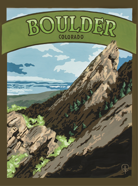 Bolder Art, Boulder Artwork, Boulder Posters,The Bungalow Craft, Bungalow Craft, Julie Leidel, Colorado Art, Colorado Artwork, Colorado Posters, 14er Posters, 14er Art, 14er Artwork, WPA Poster, WPA Art, WPA Artwork, FAP Poster, FAP Art, FAP Artwork, National Park Poster, Vintage Poster, Vintage Poster Art, Arts and Crafts Movement, Arts & Crafts Artwork, Arts & Crafts Art, Arts & Crafts Posters, Bungalow Art, Bungalow Artwork, Bungalow Posters, Craftsman Artwork, Craftsman Posters, Mission Artwork, Ski Posters, Ski Poster Art, Ski Poster Artwork, University Art, University Artwork, University Posters