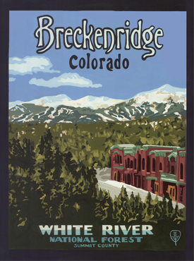 Breckenridge Art, Breckenridge Artwork, Breckenridge Posters, The Bungalow Craft, Bungalow Craft, Julie Leidel, Colorado Art, Colorado Artwork, Colorado Posters, 14er Posters, 14er Art, 14er Artwork, WPA Poster, WPA Art, WPA Artwork, FAP Poster, FAP Art, FAP Artwork, National Park Poster, Vintage Poster, Vintage Poster Art, Arts and Crafts Movement, Arts & Crafts Artwork, Arts & Crafts Art, Arts & Crafts Posters, Bungalow Art, Bungalow Artwork, Bungalow Posters, Craftsman Artwork, Craftsman Posters, Mission Artwork, Ski Posters, Ski Poster Art, Ski Poster Artwork, University Art, University Artwork, University Posters
