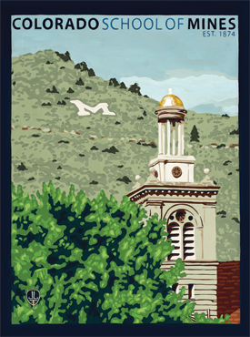 Colorado School Of Mines, The Bungalow Craft, Bungalow Craft, Julie Leidel, Colorado Art, Colorado Artwork, Colorado Posters, 14er Posters, 14er Art, 14er Artwork, WPA Poster, WPA Art, WPA Artwork, FAP Poster, FAP Art, FAP Artwork, National Park Poster, Vintage Poster, Vintage Poster Art, Arts and Crafts Movement, Arts & Crafts Artwork, Arts & Crafts Art, Arts & Crafts Posters, Bungalow Art, Bungalow Artwork, Bungalow Posters, Craftsman Artwork, Craftsman Posters, Mission Artwork, Ski Posters, Ski Poster Art, Ski Poster Artwork, University Art, University Artwork, University Posters