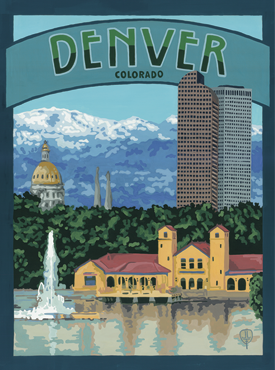 Denver Art, Denver Artwork, Denver Posters, The Bungalow Craft, Bungalow Craft, Julie Leidel, Colorado Art, Colorado Artwork, Colorado Posters, 14er Posters, 14er Art, 14er Artwork, WPA Poster, WPA Art, WPA Artwork, FAP Poster, FAP Art, FAP Artwork, National Park Poster, Vintage Poster, Vintage Poster Art, Arts and Crafts Movement, Arts & Crafts Artwork, Arts & Crafts Art, Arts & Crafts Posters, Bungalow Art, Bungalow Artwork, Bungalow Posters, Craftsman Artwork, Craftsman Posters, Mission Artwork, Ski Posters, Ski Poster Art, Ski Poster Artwork, University Art, University Artwork, University Posters