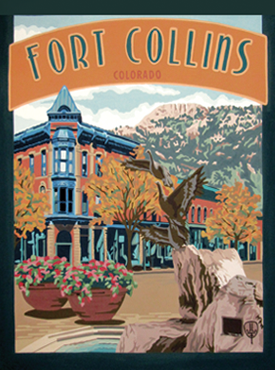 Fort Collins Art, Fort Collins Artwork, Fort Collins Poster, The Bungalow Craft, Bungalow Craft, Julie Leidel, Colorado Art, Colorado Artwork, Colorado Posters, 14er Posters, 14er Art, 14er Artwork, WPA Poster, WPA Art, WPA Artwork, FAP Poster, FAP Art, FAP Artwork, National Park Poster, Vintage Poster, Vintage Poster Art, Arts and Crafts Movement, Arts & Crafts Artwork, Arts & Crafts Art, Arts & Crafts Posters, Bungalow Art, Bungalow Artwork, Bungalow Posters, Craftsman Artwork, Craftsman Posters, Mission Artwork, Ski Posters, Ski Poster Art, Ski Poster Artwork, University Art, University Artwork, University Posters