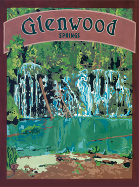 Glenwood Springs Art, Glenwood Springs Artwork, Glenwood Springs Poster, Hanging Lake Art, Hanging Lake Artwork, Hanging Lake Poster, The Bungalow Craft, Bungalow Craft, Julie Leidel, Colorado Art, Colorado Artwork, Colorado Posters, 14er Posters, 14er Art, 14er Artwork, WPA Poster, WPA Art, WPA Artwork, FAP Poster, FAP Art, FAP Artwork, National Park Poster, Vintage Poster, Vintage Poster Art, Arts and Crafts Movement, Arts & Crafts Artwork, Arts & Crafts Art, Arts & Crafts Posters, Bungalow Art, Bungalow Artwork, Bungalow Posters, Craftsman Artwork, Craftsman Posters, Mission Artwork, Ski Posters, Ski Poster Art, Ski Poster Artwork, University Art, University Artwork, University Posters