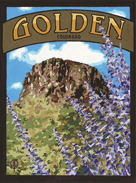 Golden Art, Golden Artwork, Golden Posters, The Bungalow Craft, Bungalow Craft, Julie Leidel, Colorado Art, Colorado Artwork, Colorado Posters, 14er Posters, 14er Art, 14er Artwork, WPA Poster, WPA Art, WPA Artwork, FAP Poster, FAP Art, FAP Artwork, National Park Poster, Vintage Poster, Vintage Poster Art, Arts and Crafts Movement, Arts & Crafts Artwork, Arts & Crafts Art, Arts & Crafts Posters, Bungalow Art, Bungalow Artwork, Bungalow Posters, Craftsman Artwork, Craftsman Posters, Mission Artwork, Ski Posters, Ski Poster Art, Ski Poster Artwork, University Art, University Artwork, University Posters