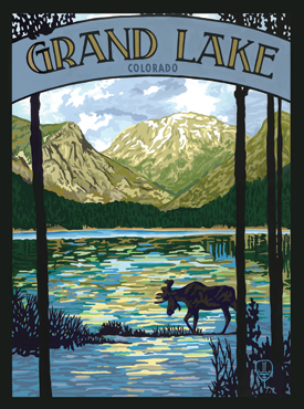 Grand Lake Art, Grand Lake Artwork, Grand Lake Posters, The Bungalow Craft, Bungalow Craft, Julie Leidel, Colorado Art, Colorado Artwork, Colorado Posters, 14er Posters, 14er Art, 14er Artwork, WPA Poster, WPA Art, WPA Artwork, FAP Poster, FAP Art, FAP Artwork, National Park Poster, Vintage Poster, Vintage Poster Art, Arts and Crafts Movement, Arts & Crafts Artwork, Arts & Crafts Art, Arts & Crafts Posters, Bungalow Art, Bungalow Artwork, Bungalow Posters, Craftsman Artwork, Craftsman Posters, Mission Artwork, Ski Posters, Ski Poster Art, Ski Poster Artwork, University Art, University Artwork, University Posters