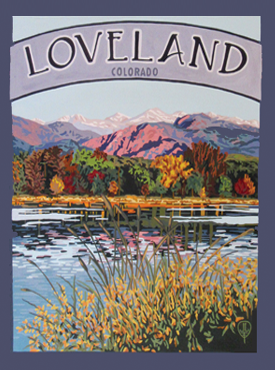 Loveland Art, Loveland Artwork, Loveland Posters, The Bungalow Craft, Bungalow Craft, Julie Leidel, Colorado Art, Colorado Artwork, Colorado Posters, 14er Posters, 14er Art, 14er Artwork, WPA Poster, WPA Art, WPA Artwork, FAP Poster, FAP Art, FAP Artwork, National Park Poster, Vintage Poster, Vintage Poster Art, Arts and Crafts Movement, Arts & Crafts Artwork, Arts & Crafts Art, Arts & Crafts Posters, Bungalow Art, Bungalow Artwork, Bungalow Posters, Craftsman Artwork, Craftsman Posters, Mission Artwork, Ski Posters, Ski Poster Art, Ski Poster Artwork, University Art, University Artwork, University Posters