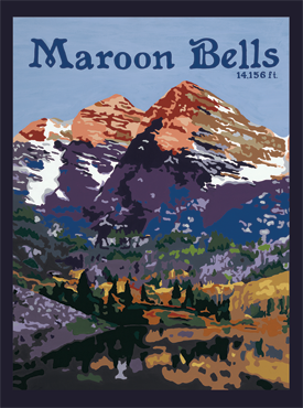 Maroon Bells Art, Maroon Bells Artwork, Maroon Bells Posters, Aspen Art, Aspen Artwork, Aspen Posters, The Bungalow Craft, Bungalow Craft, Julie Leidel, Colorado Art, Colorado Artwork, Colorado Posters, 14er Posters, 14er Art, 14er Artwork, WPA Poster, WPA Art, WPA Artwork, FAP Poster, FAP Art, FAP Artwork, National Park Poster, Vintage Poster, Vintage Poster Art, Arts and Crafts Movement, Arts & Crafts Artwork, Arts & Crafts Art, Arts & Crafts Posters, Bungalow Art, Bungalow Artwork, Bungalow Posters, Craftsman Artwork, Craftsman Posters, Mission Artwork, Ski Posters, Ski Poster Art, Ski Poster Artwork, University Art, University Artwork, University Posters