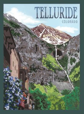 Telluride Art, Telluride Artwork, Telluride Posters, The Bungalow Craft, Bungalow Craft, Julie Leidel, Colorado Art, Colorado Artwork, Colorado Posters, 14er Posters, 14er Art, 14er Artwork, WPA Poster, WPA Art, WPA Artwork, FAP Poster, FAP Art, FAP Artwork, National Park Poster, Vintage Poster, Vintage Poster Art, Arts and Crafts Movement, Arts & Crafts Artwork, Arts & Crafts Art, Arts & Crafts Posters, Bungalow Art, Bungalow Artwork, Bungalow Posters, Craftsman Artwork, Craftsman Posters, Mission Artwork, Ski Posters, Ski Poster Art, Ski Poster Artwork, University Art, University Artwork, University Posters