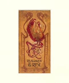 Art Nouveau Phoenix Matted Print