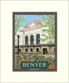 Overstock Denver Union Station 16x20 Matted Print