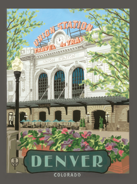 Denver Art, Denver Artwork, Denver Posters, Denver Union Station, The Bungalow Craft, Bungalow Craft, Julie Leidel, Colorado Art, Colorado Artwork, Colorado Posters, 14er Posters, 14er Art, 14er Artwork, WPA Poster, WPA Art, WPA Artwork, FAP Poster, FAP Art, FAP Artwork, National Park Poster, Vintage Poster, Vintage Poster Art, Arts and Crafts Movement, Arts & Crafts Artwork, Arts & Crafts Art, Arts & Crafts Posters, Bungalow Art, Bungalow Artwork, Bungalow Posters, Craftsman Artwork, Craftsman Posters, Mission Artwork, Poster Artwork