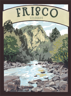 Frisco Art, Frisco Artwork, Frisco Poster, The Bungalow Craft, Bungalow Craft, Julie Leidel, Colorado Art, Colorado Artwork, Colorado Posters, 14er Posters, 14er Art, 14er Artwork, WPA Poster, WPA Art, WPA Artwork, FAP Poster, FAP Art, FAP Artwork, National Park Poster, Vintage Poster, Vintage Poster Art, Arts and Crafts Movement, Arts & Crafts Artwork, Arts & Crafts Art, Arts & Crafts Posters, Bungalow Art, Bungalow Artwork, Bungalow Posters, Craftsman Artwork, Craftsman Posters, Mission Artwork, Ski Posters, Ski Poster Art, Ski Poster Artwork, University Art, University Artwork, University Posters
