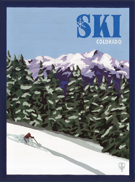 Ski Posters, Ski Art, Ski Artwork, The Bungalow Craft, Bungalow Craft, Julie Leidel, Colorado Art, Colorado Artwork, Colorado Posters, 14er Posters, 14er Art, 14er Artwork, WPA Poster, WPA Art, WPA Artwork, FAP Poster, FAP Art, FAP Artwork, National Park Poster, Vintage Poster, Vintage Poster Art, Arts and Crafts Movement, Arts & Crafts Artwork, Arts & Crafts Art, Arts & Crafts Posters, Bungalow Art, Bungalow Artwork, Bungalow Posters, Craftsman Artwork, Craftsman Posters, Mission Artwork, Ski Posters, Ski Poster Art, Ski Poster Artwork, University Art, University Artwork, University Posters